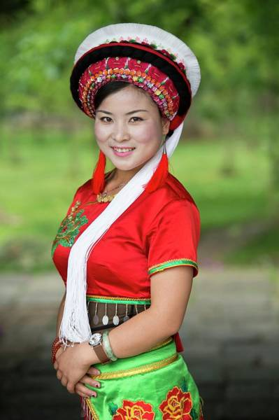 Woman Of The Bai Ethnic Minority In China Poster