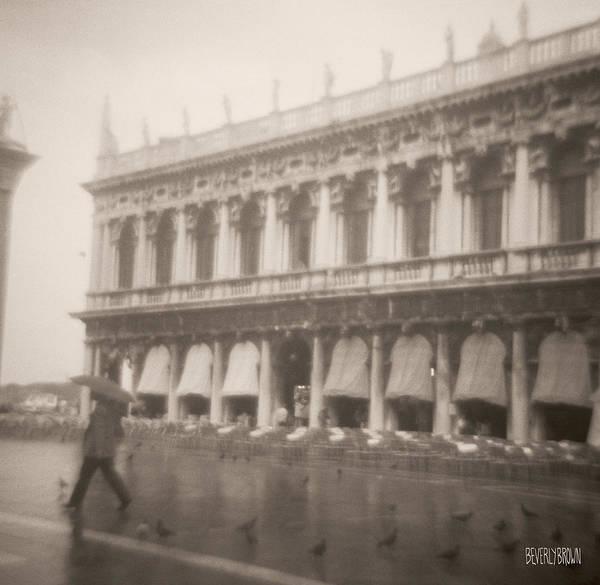 Woman Walking In The Rain Poster