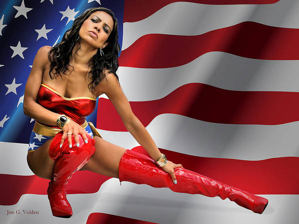 Flag Day With Wonder Warrior Poster
