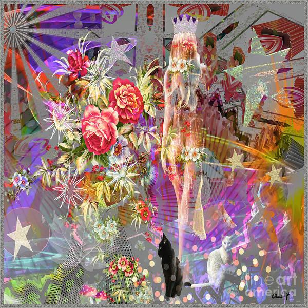 Poster featuring the digital art Wonderland by Eleni Mac Synodinos