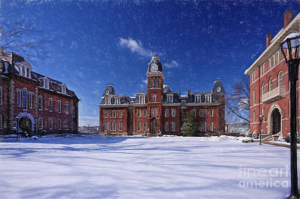 Woodburn Hall In Snow Strom Paintography Poster