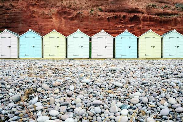 Wooden Beach Huts Poster