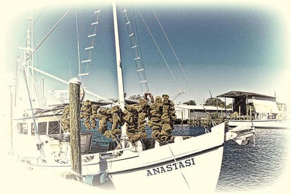 Working Sponge Boat Poster