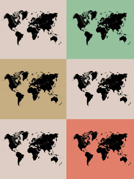 World Map Grid Poster 2 Poster