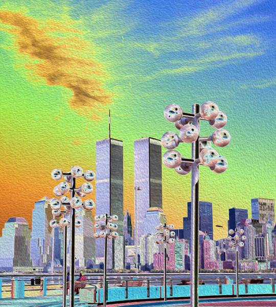 World Trade Center From Nj Terminal Poster