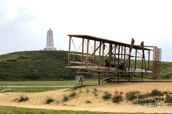 Wright Brothers Memorial At Kitty Hawk Poster