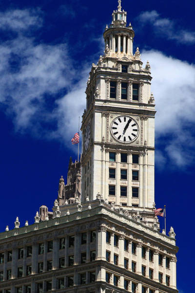 Wrigley Building Clock Tower Poster