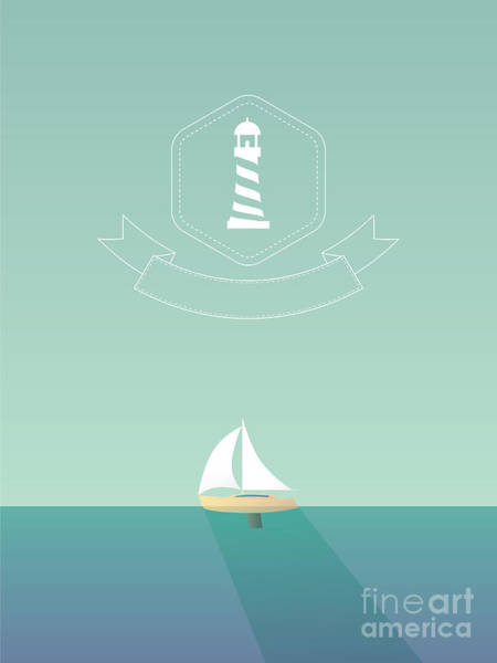 Yacht Sailing In The Sea. Traveling Poster