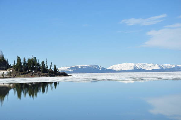 Yellowstone Lake In The Spring Poster