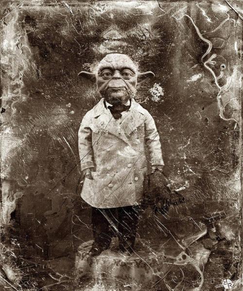 Yoda Star Wars Antique Photo Poster