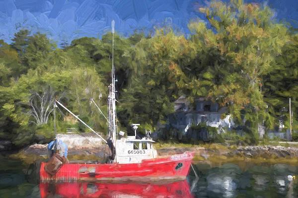 York Harbor Maine Painterly Effect Poster