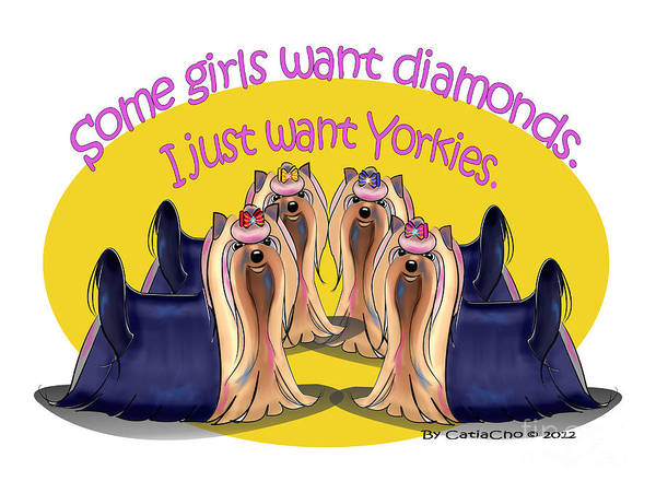 Yorkies Are A Girls Best Friends Poster