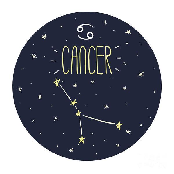 Zodiac Signs Doodle Set - Cancer Poster