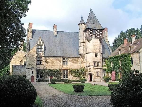 Chateau Villamenant France  Poster