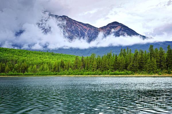 Mountain Lake In Jasper National Park Poster