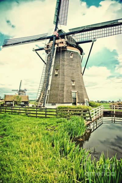 Old Dutch  Windmill Poster