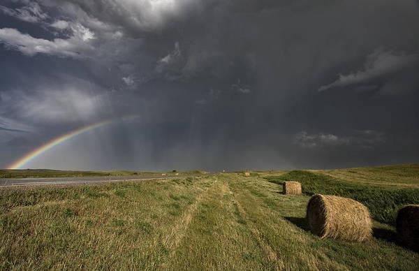Prairie Road Storm Clouds Poster