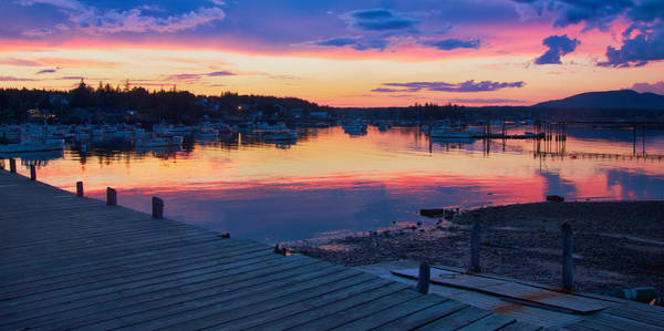 Sunset Bass Harbor Maine Poster
