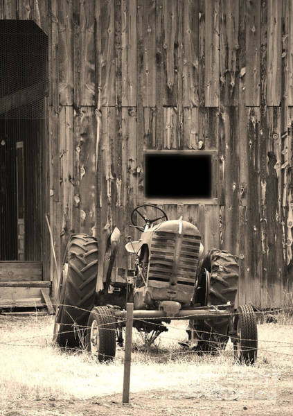 Tractor And The Barn Poster