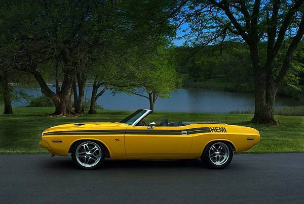 1970 Dodge Challenger Rt Convertible Poster