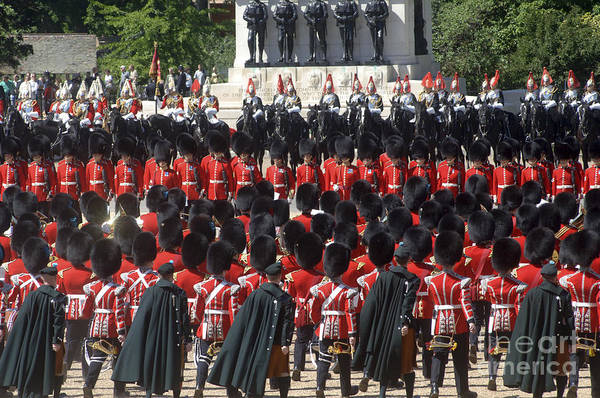 Irish Guards March Pass During The Last Poster