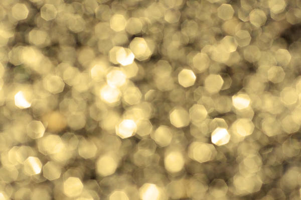 Abstract Lights Golden Poster