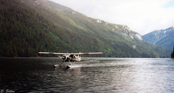 Airplane On Lake Poster