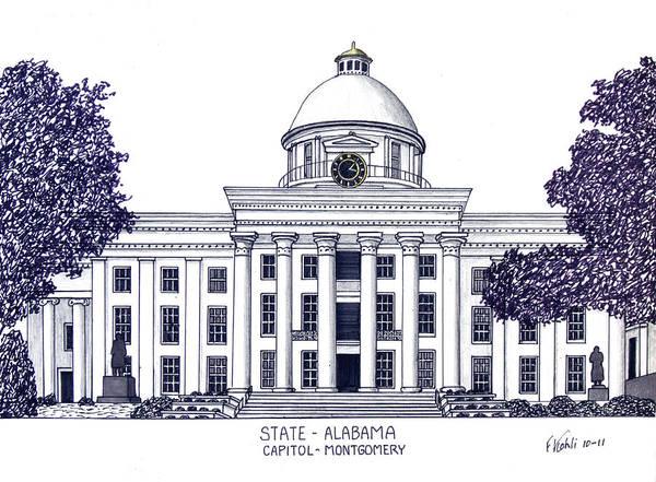 Alabama State Capitol Poster