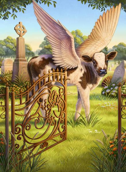 Angel Calf Poster