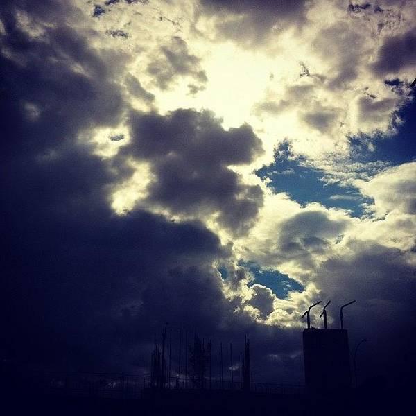 At Work #clouds #sky #cloudporn Poster