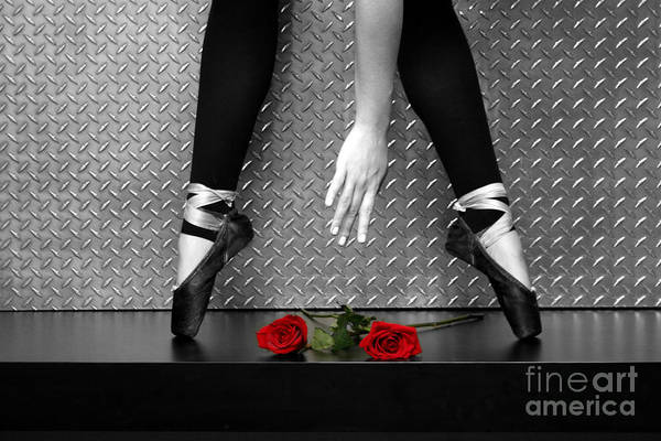 Bailarina En Rosas Poster