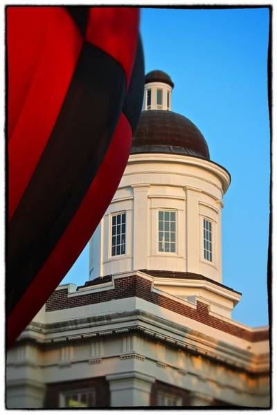 Balloon And Dome Of The Canton Courthouse Poster