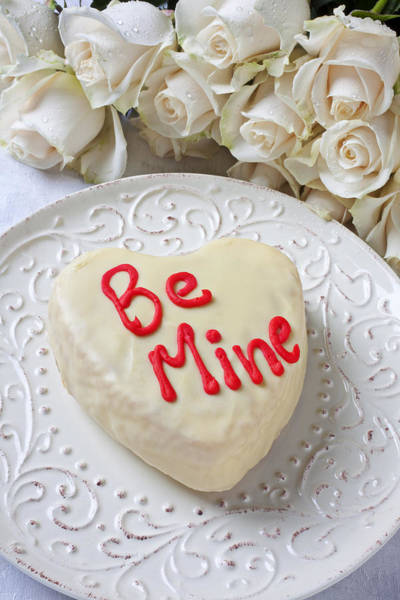 Be Mine Heart Cake Poster