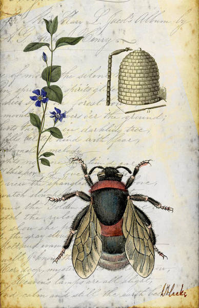 Bee Flower Hive  Poster