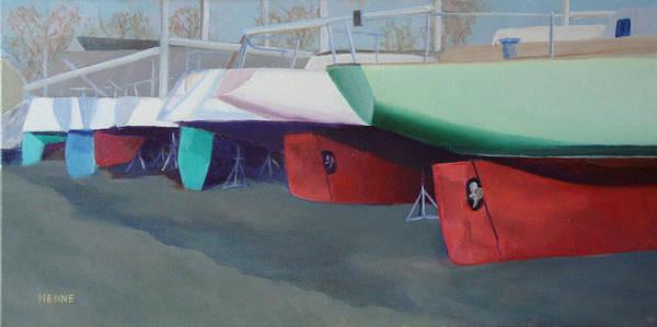 Boat Yard Island Heights Poster