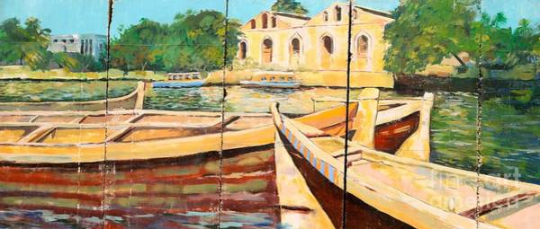 Boats On The Canal Poster