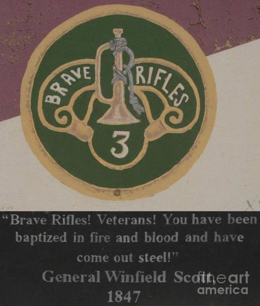 Brave Rifles - General Scott Poster