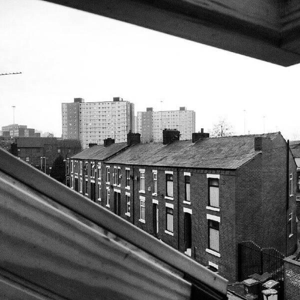 #buildings #view #window #salford Poster