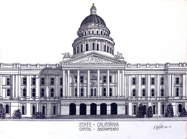 California State Capitol Poster
