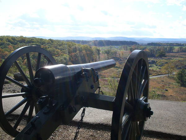 Cannon At Little Roundtop Poster