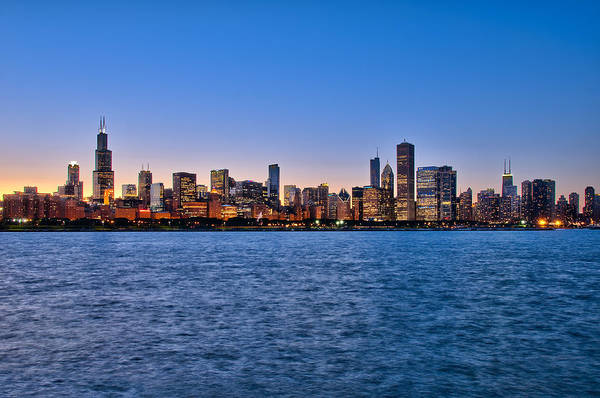 Chicago At Sunset Poster