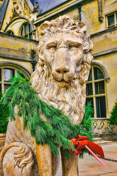 Christmas Lion At Biltmore Poster