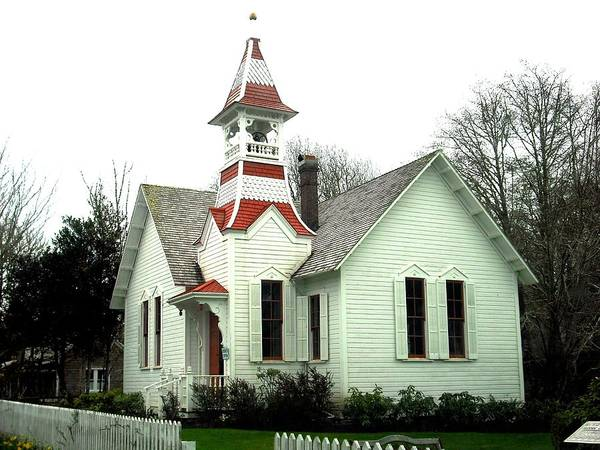 Church In Oysterville Poster