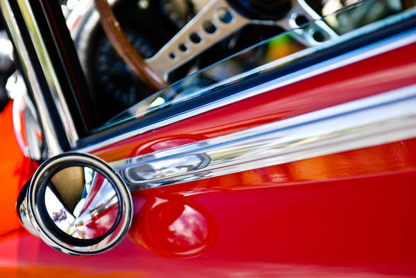 Classic Red Car Artwork Poster