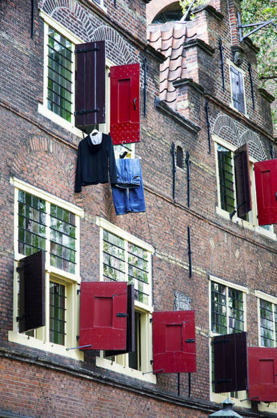 Clothes Hanging From A Window In Kattengat Poster