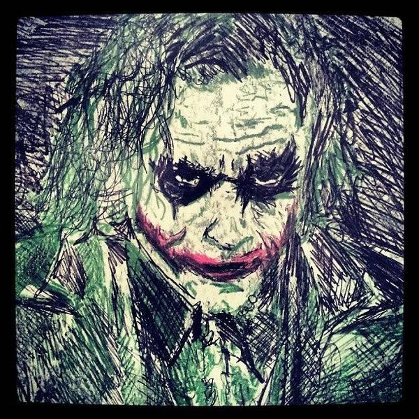 College Work 08' #joker #art Poster