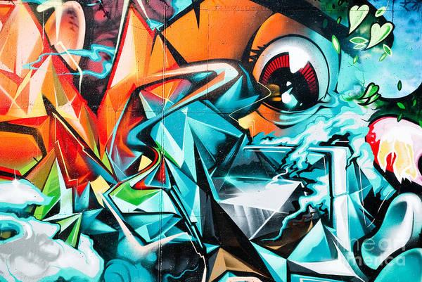 Colorful Graffiti Fragment Poster