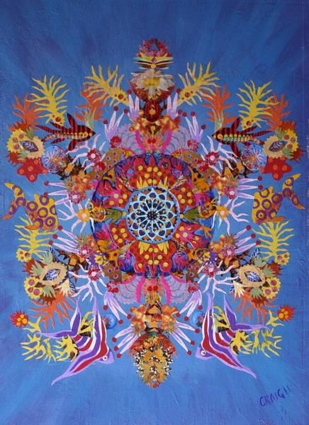 Coral Kaleidoscope Poster