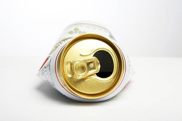 Crushed Beer Can Poster