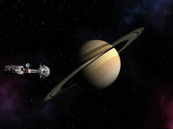 Cumberland Passing Saturn Poster